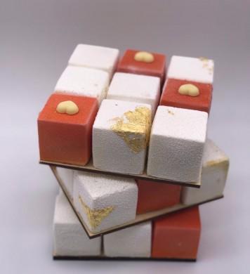Торт Кубик Рубика, МК - У самовара - Украшение тортов 56