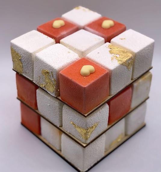 Торт Кубик Рубика, МК - У самовара - Украшение тортов 93